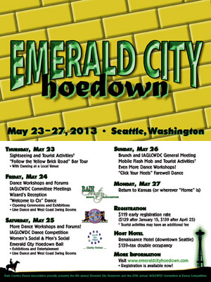 Emerald City Hoedown 2012 postcard